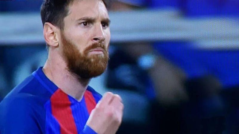 Messi che protesta. meme più famosi