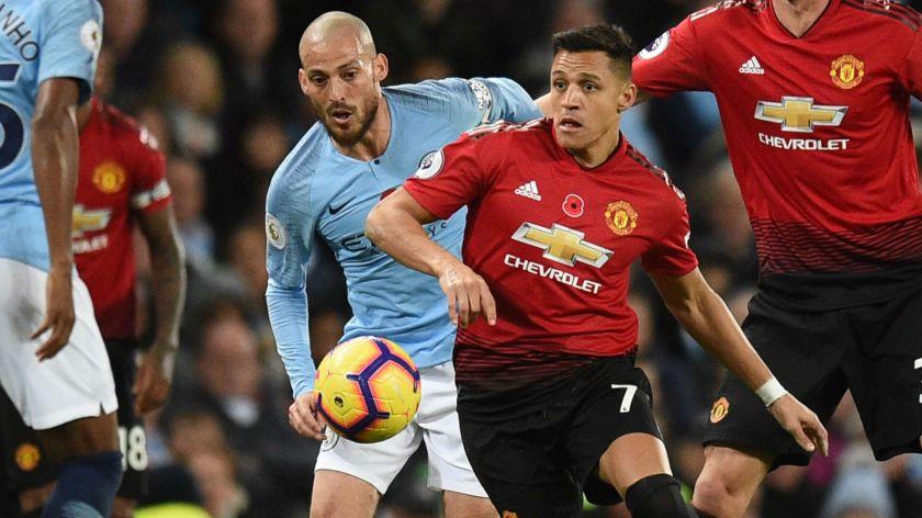 111118 Alexis Sanchez, David Silva Manchester United Manchester City