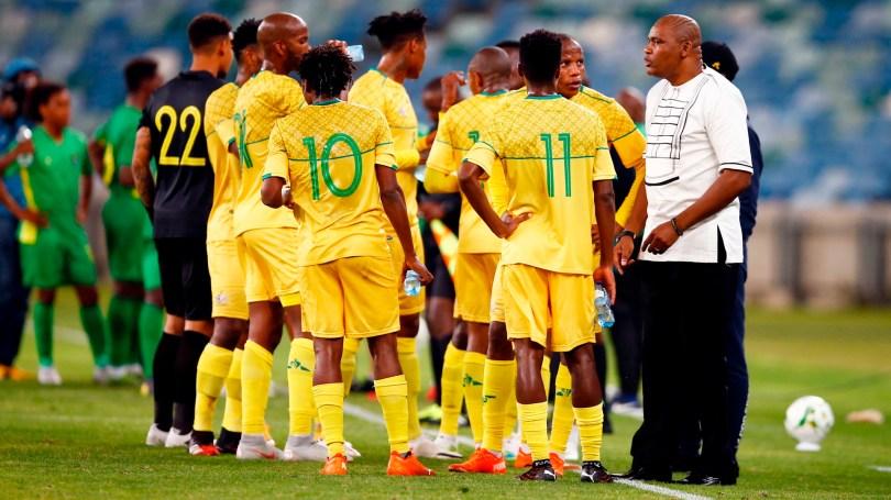 bafana bafana coach molefi ntseki and players november
