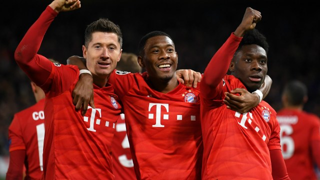 Robert Lewandowski David Alaba Alphonso Davies Bayern Munich2019-20