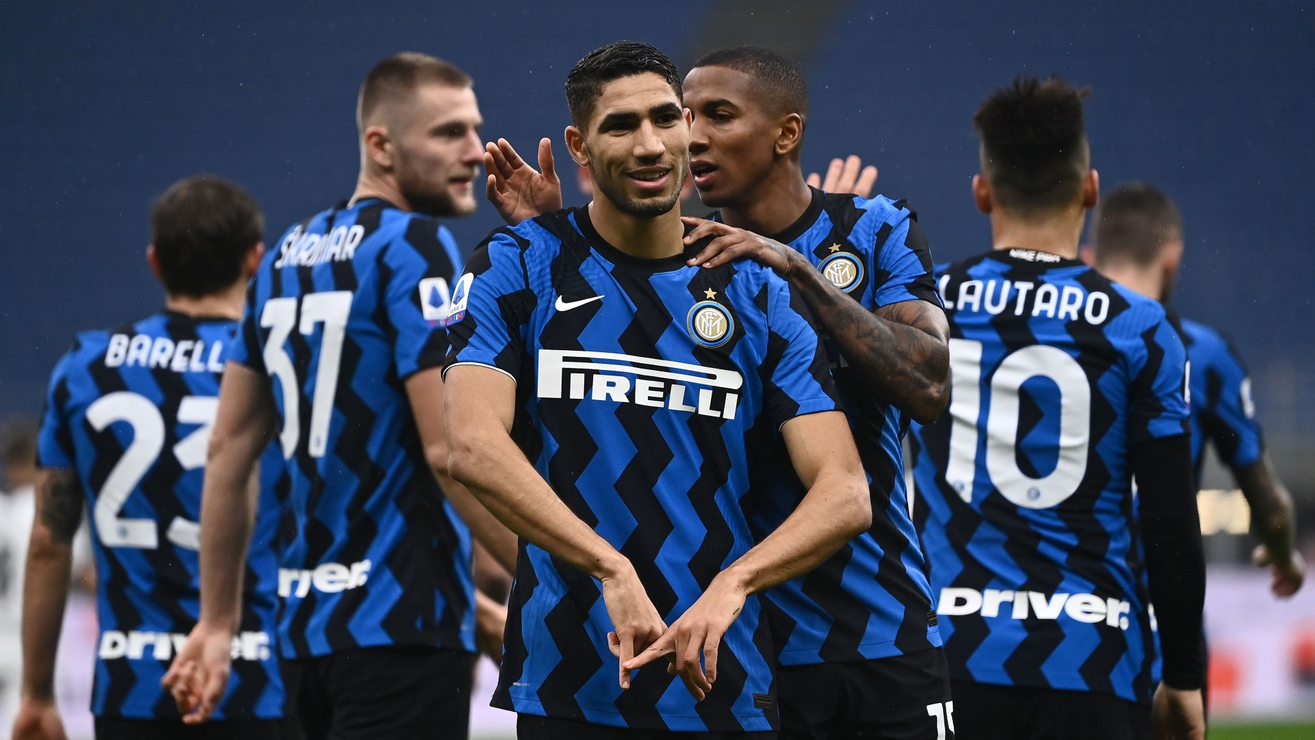 Inter Milan wing-back Hakimi matches Maicon's scoring record with Roma goal
