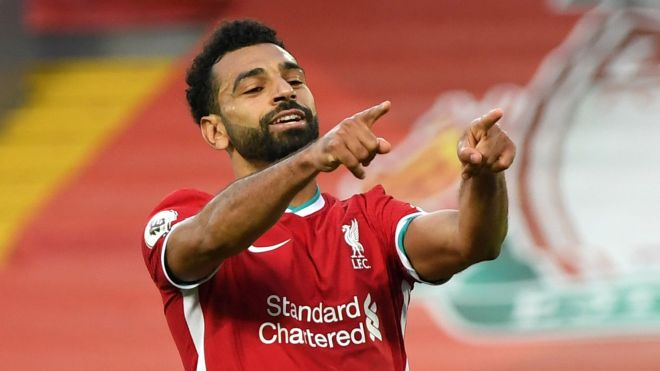 Salah beats Shaqiri and Mane to Liverpool Goal of the Month award