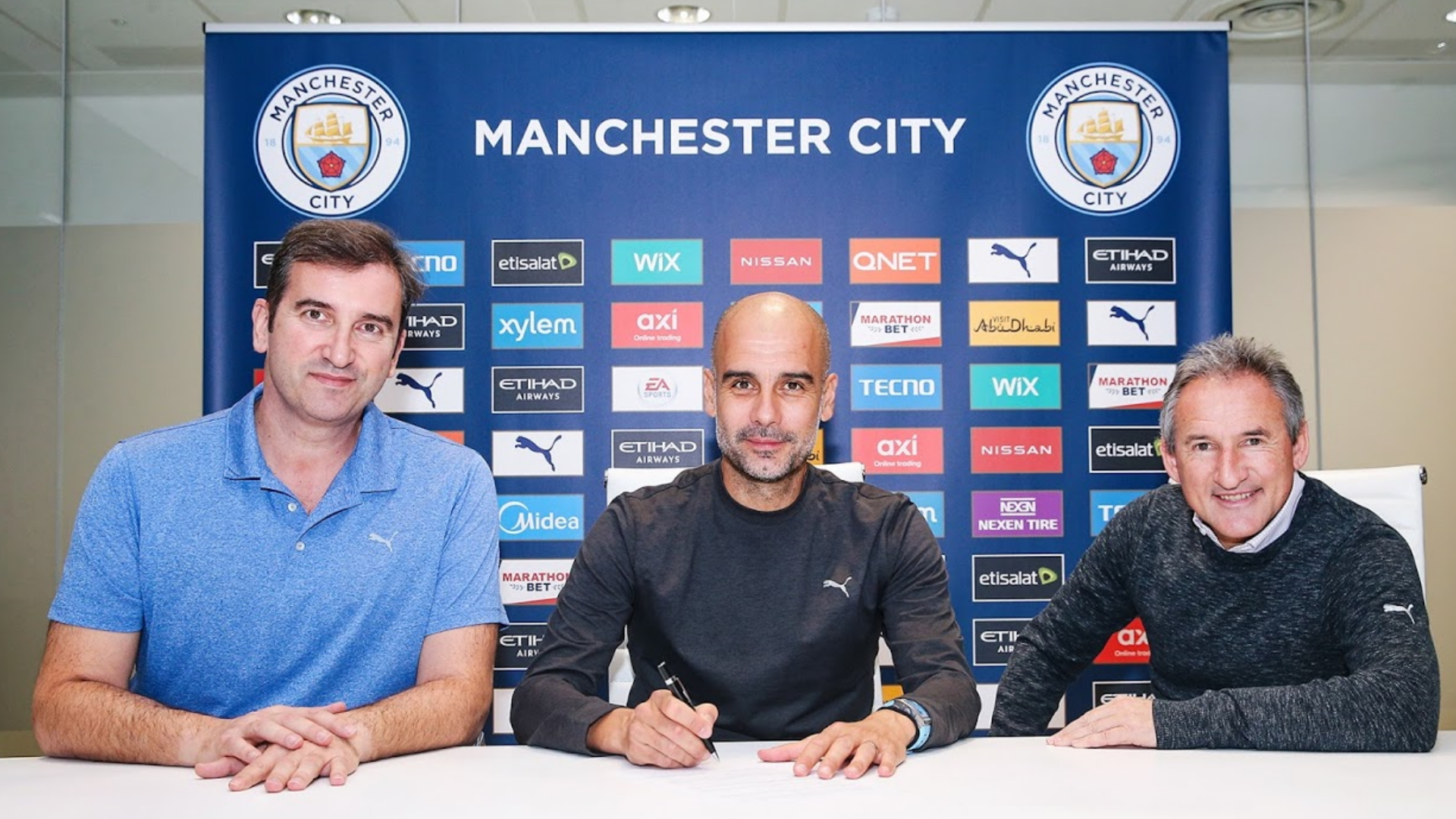 Guardiola agrees new two-year Man City contract