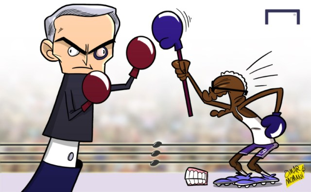 Cartoon Mourinho vs Eto'o