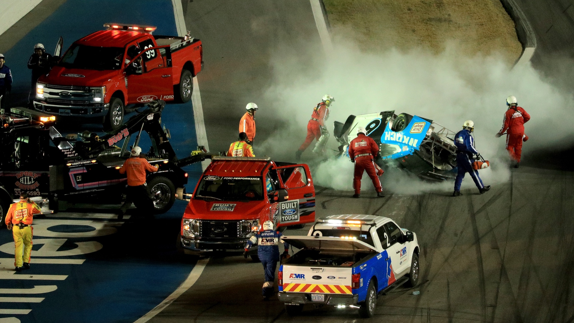 Ryan Newman transported to hospital after crash at end of Daytona 500