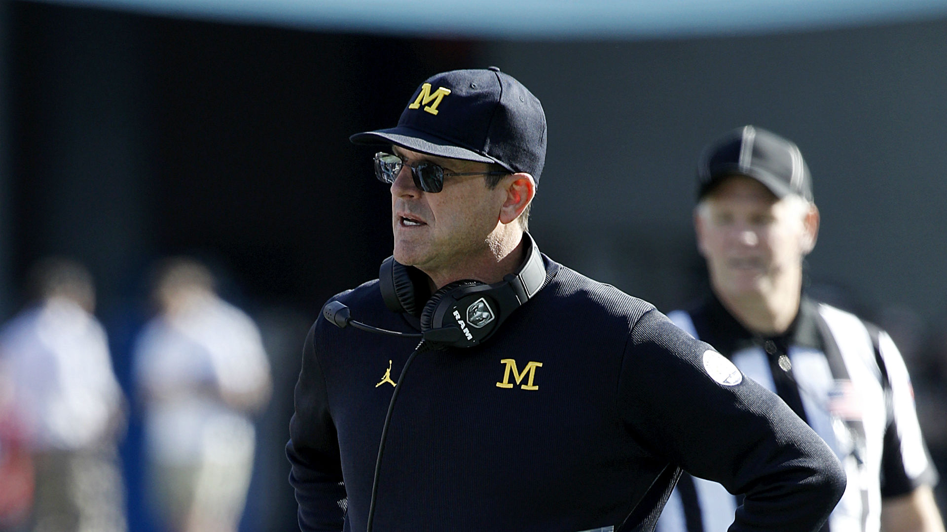 Jim Harbaugh, Gene Smith address 100,000-fan question at Michigan, Ohio State