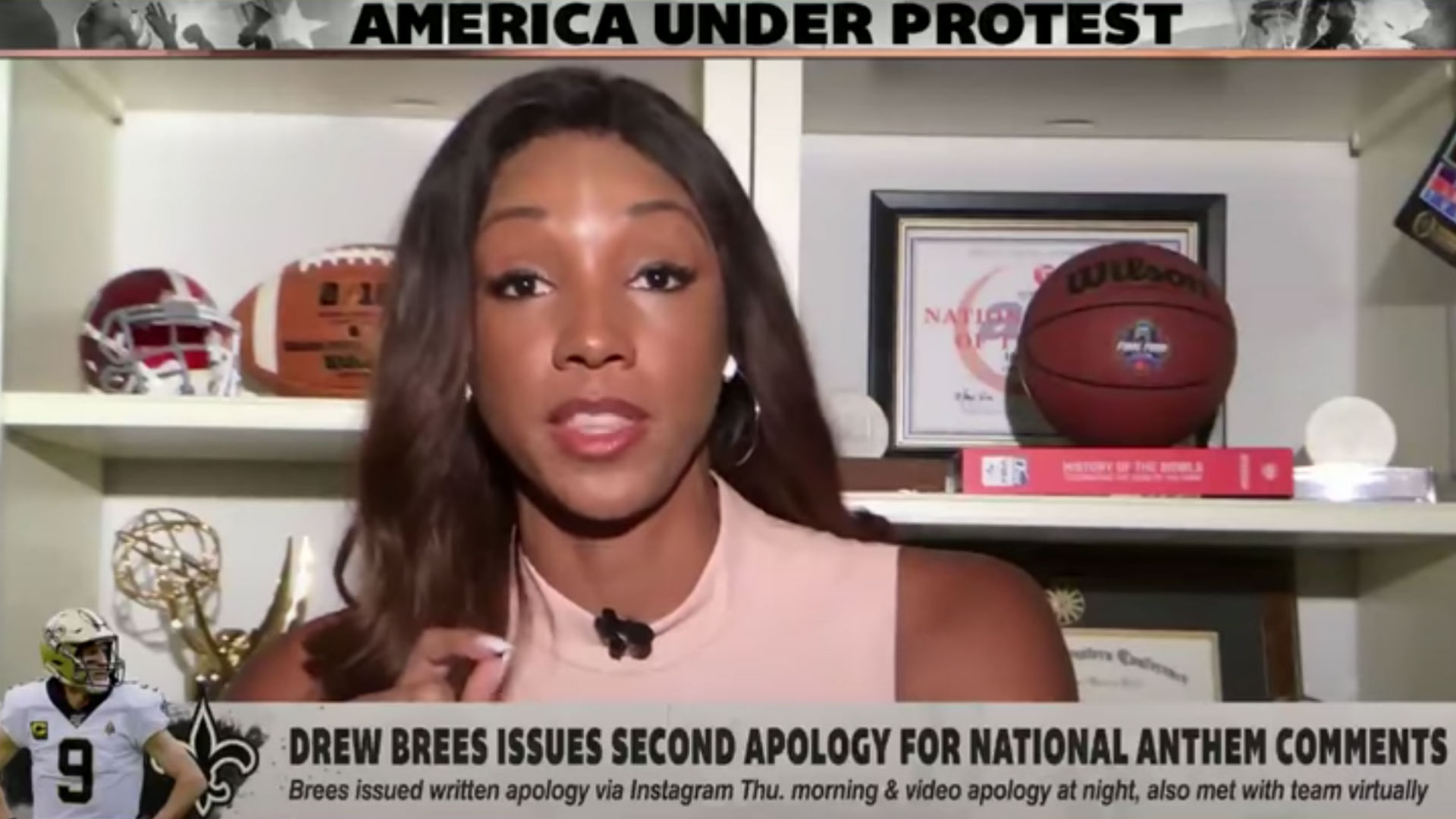 Photo of ESPN's Maria Taylor delivers passionate response to Drew Brees' apology