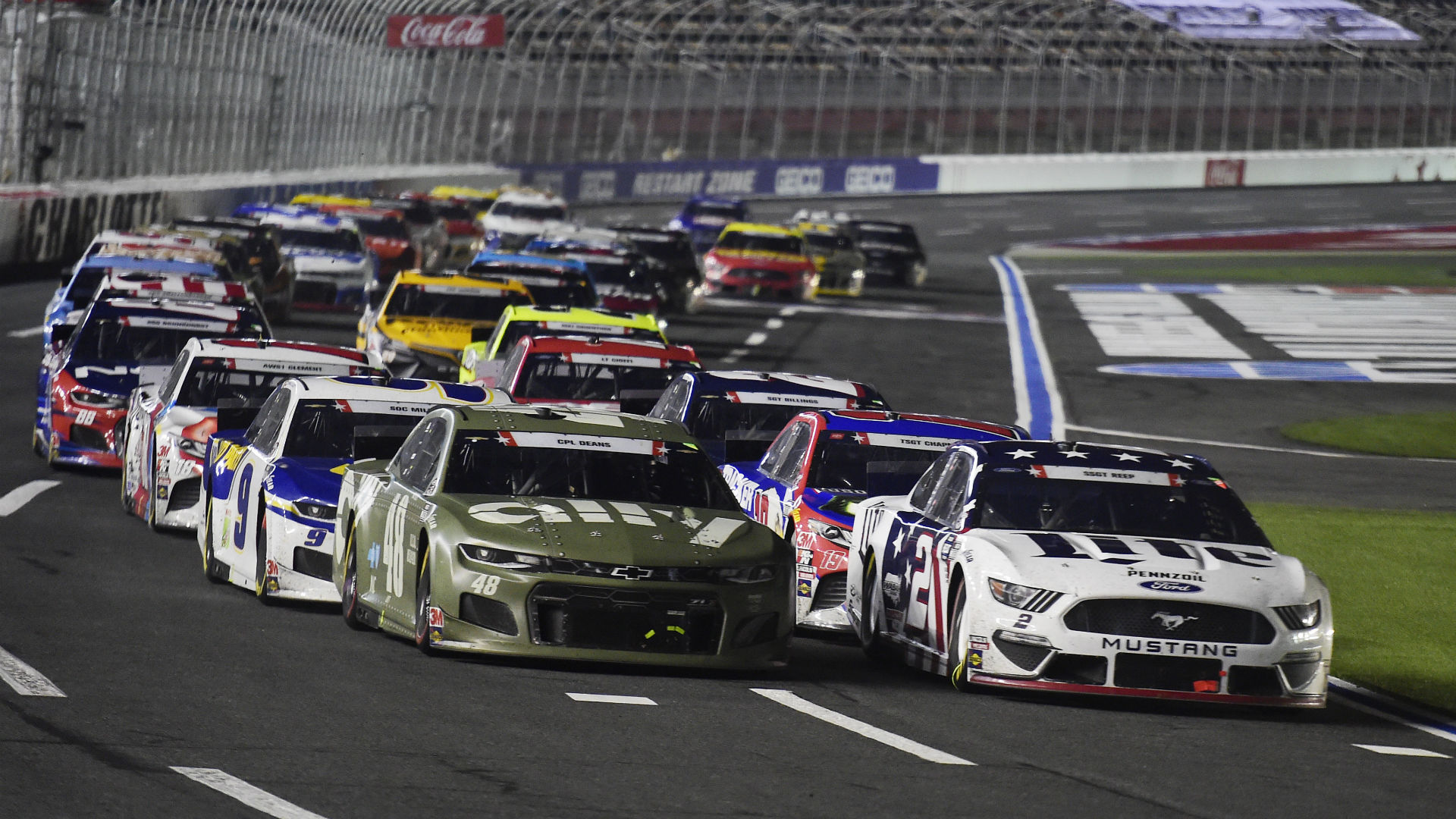 NASCAR at Charlotte live race updates, results, highlights from the rain-delayed Alsco Uniforms 500