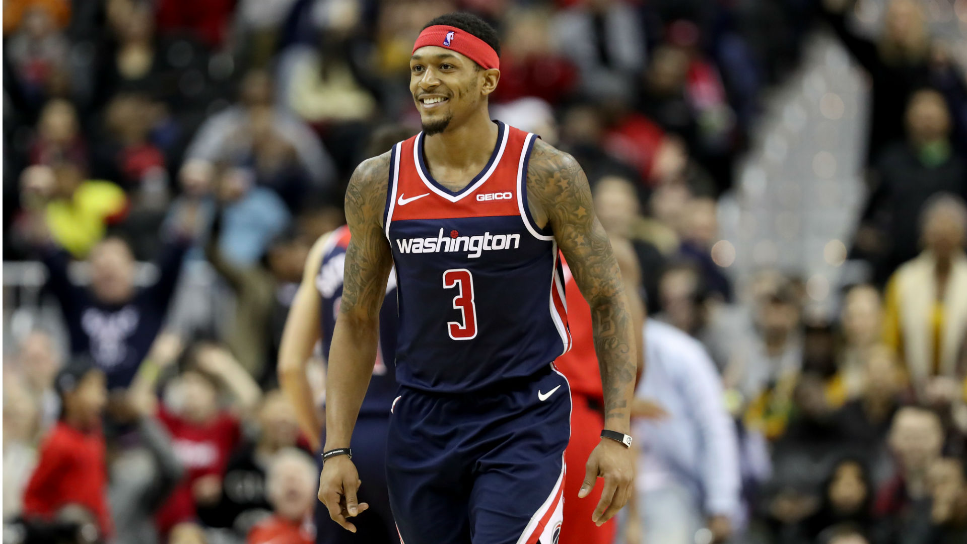 """Photo of Bradley Beal of the Wizards Responds to Recent Nets Trade Rumors: """" I See It as a Sign of Respect """""""