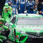 Kyle Busch pushes NASCAR pace car in frustration after crashing in rain at New Hampshire 💥🚑🚓🚑🚓🚑🚓💥