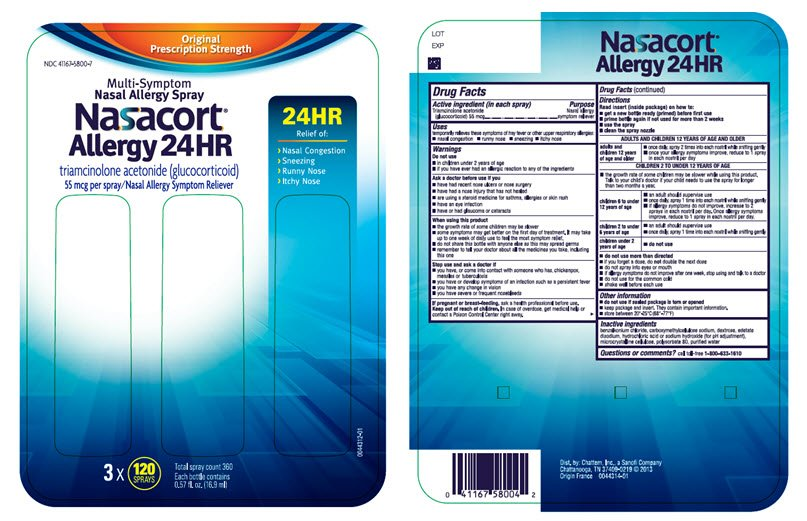 Allergy 24HR (Chattem, Inc.) TRIAMCINOLONE ACETONIDE 55ug spray ...