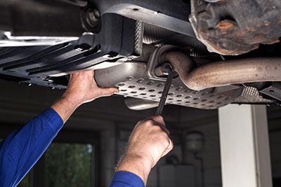 muffler exhaust repair too hot motors