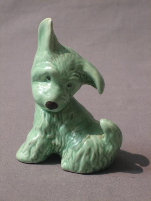 Lot No 637 A Sylvac Green Glazed Figure Of A Seated Dog