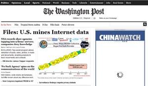 """Die """"Washington Post"""" enthüllt, dass Unternehmen wie Microsoft, Yahoo, Google, Facebook, Paltalk, AOL, Skype, Youtube und Apple mit der NSA und dem FBI zusammenarbeiten."""