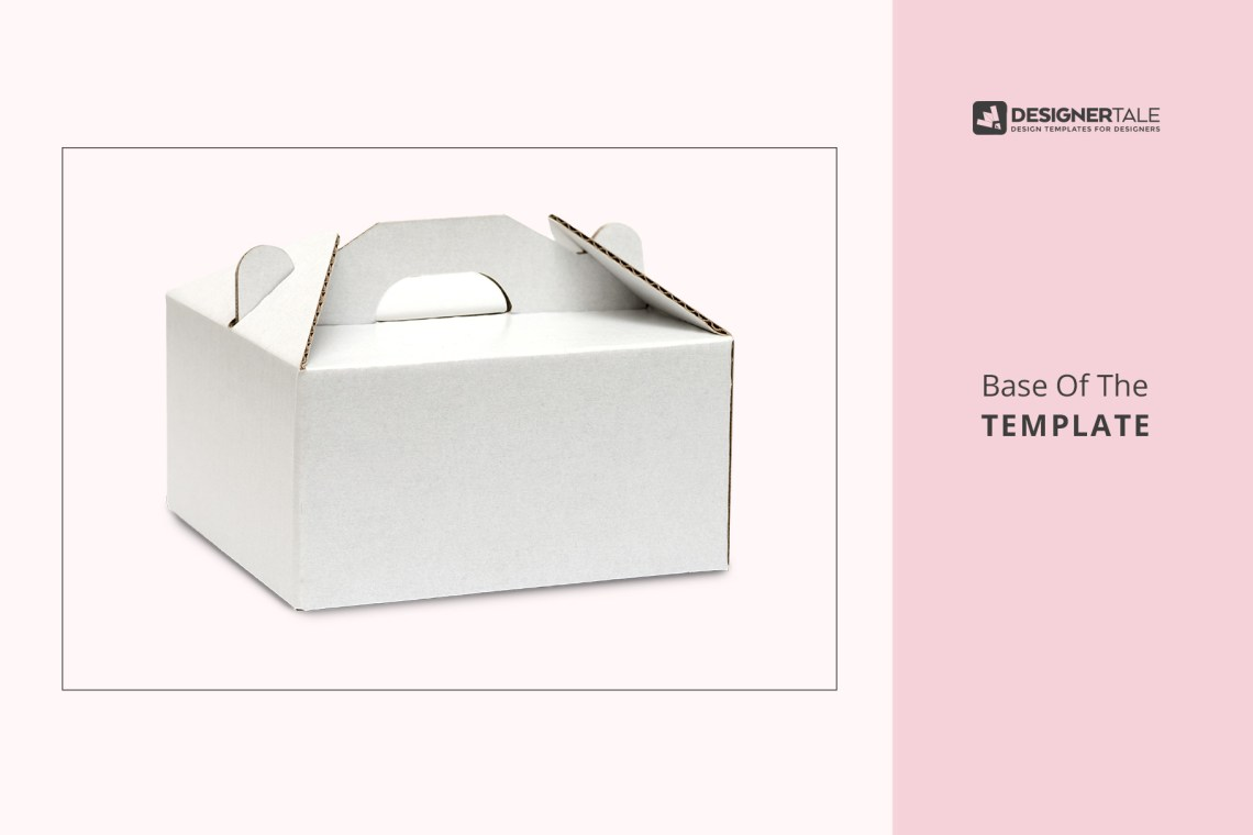Download Cake Box Packaging Mockup | Designertale