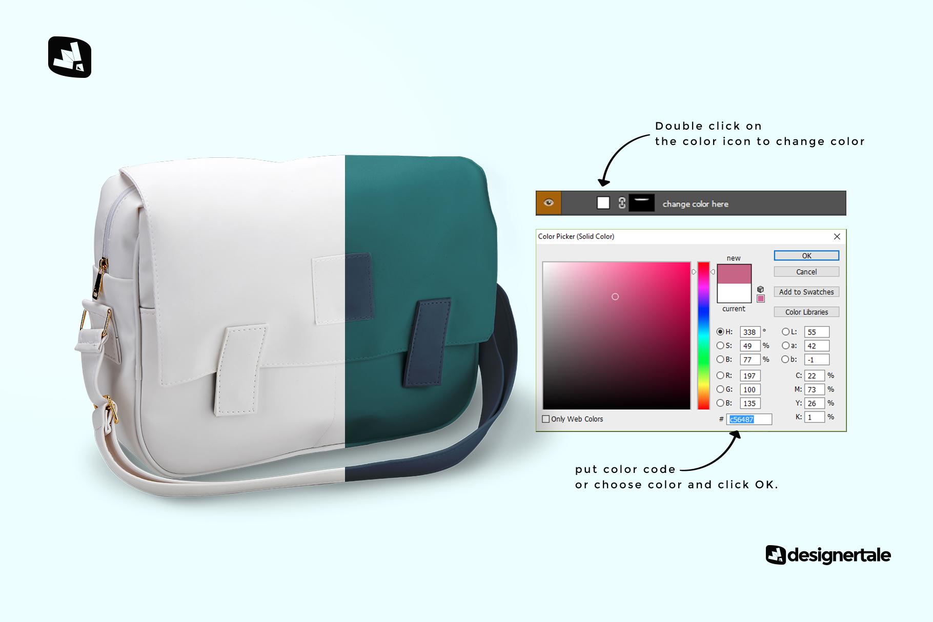 Download free messenger ui kit for adobe xd. Leather Messenger Bag Mockup Designertale