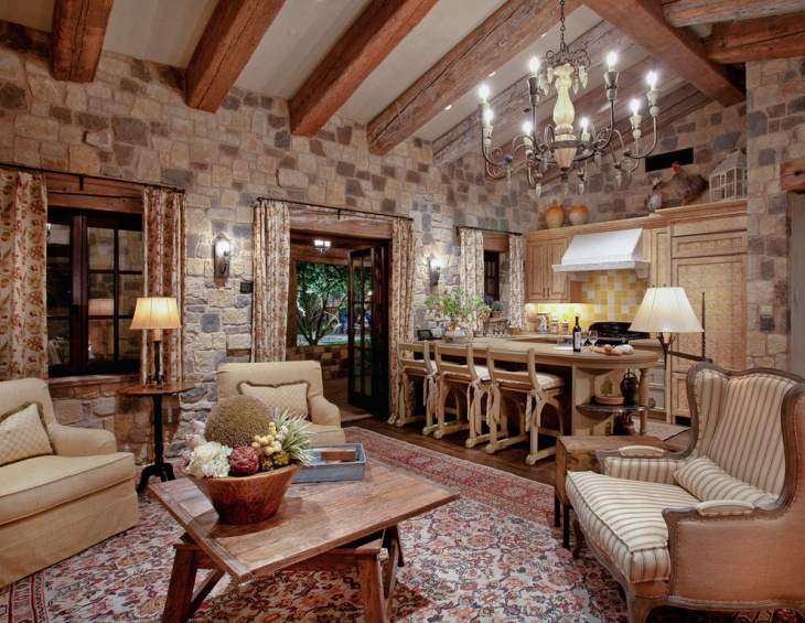 19+ Rustic Living Room Designs, Decorating Ideas | Design ... on Decorative Wall Sconces For Living Room Ideas id=35883