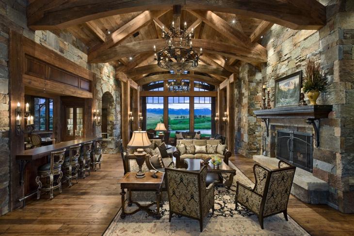 19+ Rustic Living Room Designs, Decorating Ideas | Design ... on Traditional Rustic Decor  id=57873
