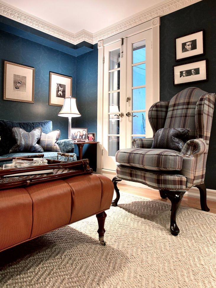 19+ Blue Living Room Designs, Decorating Ideas   Design ... on Pictures Room Decor  id=60284
