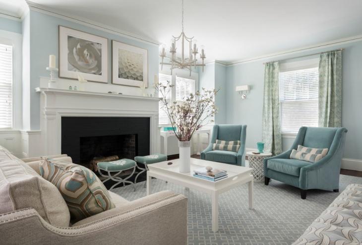 19+ Blue Living Room Designs, Decorating Ideas