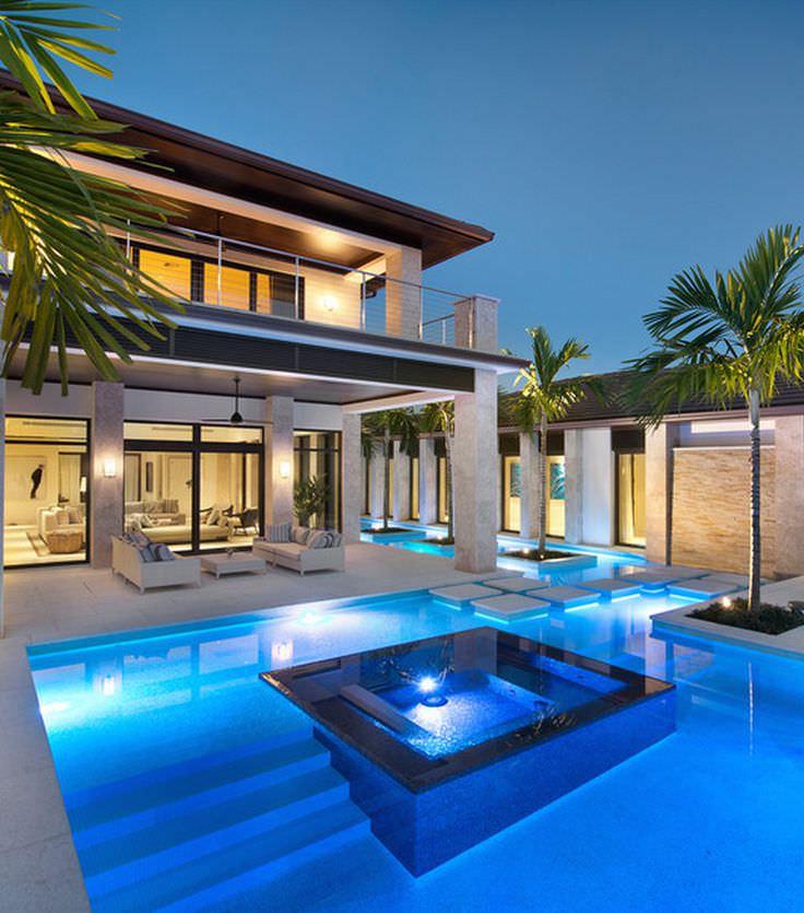 30+ Modern Swimming Pool Designs | outdoor Designs ... on Modern Backyard Ideas With Pool id=80223