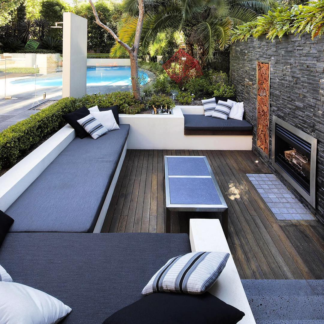 27+ Contemporary Patio Outdoor Designs, Decorating Ideas ... on Backyard Patio Layout id=89999