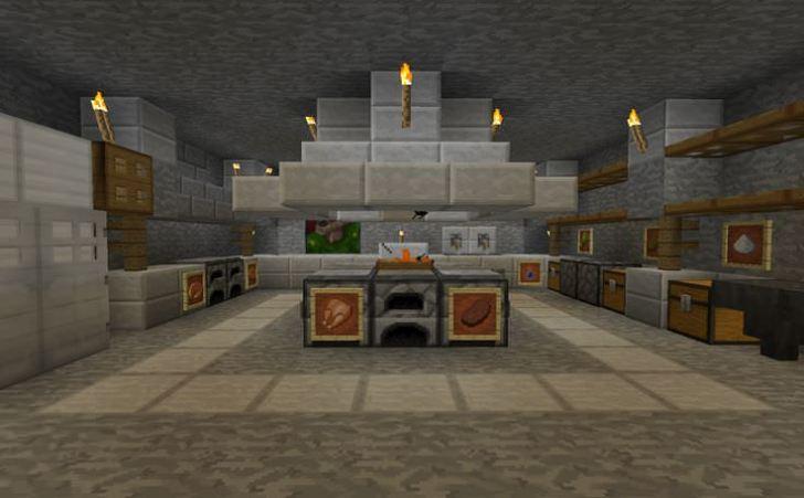 Stone Minecraft Kitchen Design