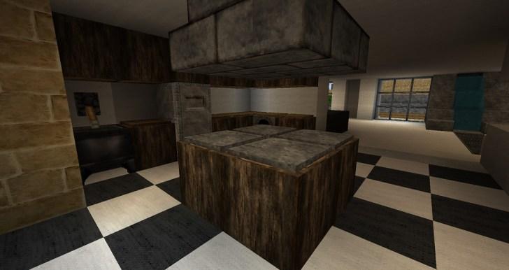 Middle Minecraft Kitchen Design
