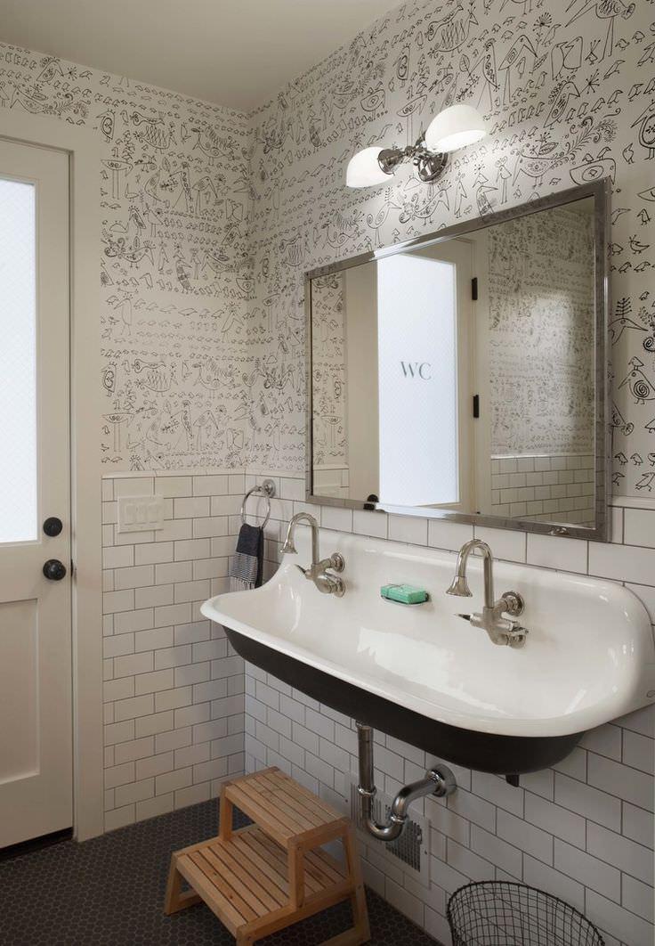 10+ Bathroom Wallpaper Designs | Bathroom Designs | Design ... on Modern Farmhouse Bathroom  id=32421