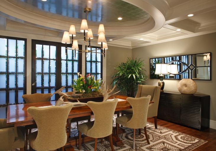 23+ Dining Room Ceiling Designs, Decorating Ideas | Design ... on Dining Table Ceiling Design  id=73920