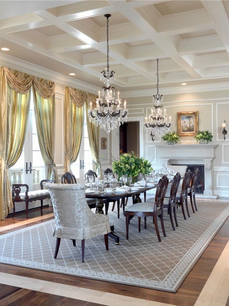 23+ Dining Room Ceiling Designs, Decorating Ideas | Design ... on Dining Table Ceiling Design  id=98067