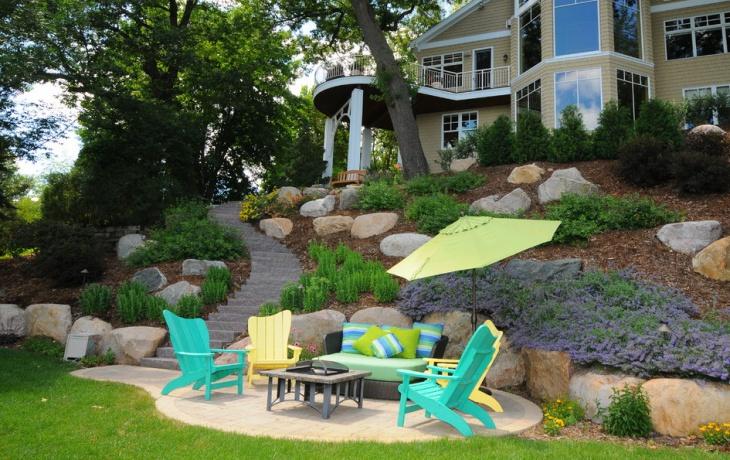 18+ Latest Backyard Landscaping Designs, Ideas | Design ... on Sloped Backyard Design id=76186