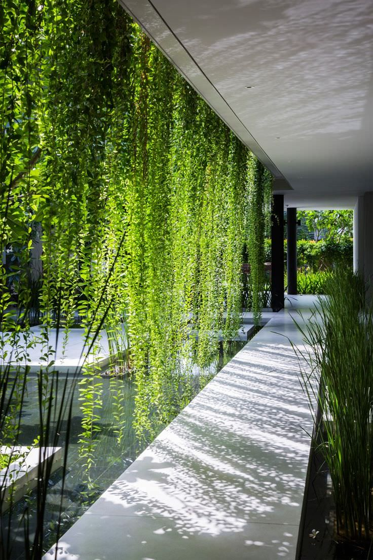 1.8 the green curtains that are fashionable 19+ Shade Garden Designs, Decorating Ideas   Design Trends