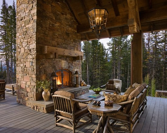 34 Rustic Deck Designs Home Designs Design Trends