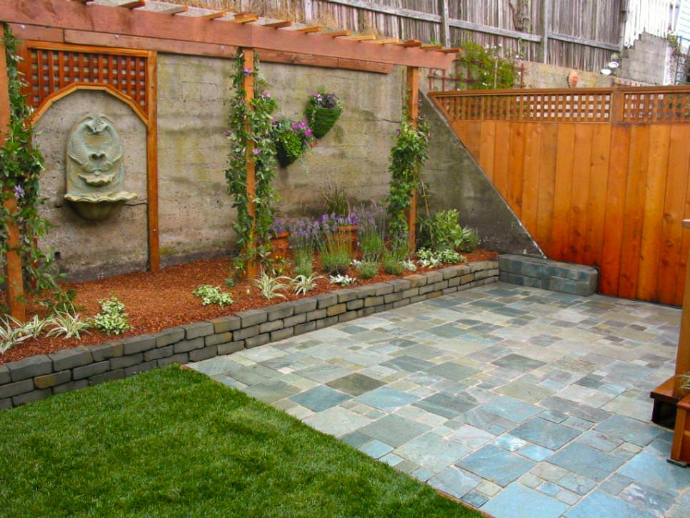 Brick Wall Garden Designs, Decorating Ideas, | Design ... on Wall Ideas For Yard id=28123