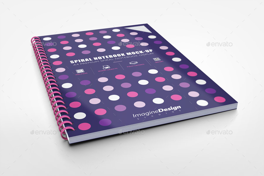 A4 Spiral Notebook Mockup Ideas