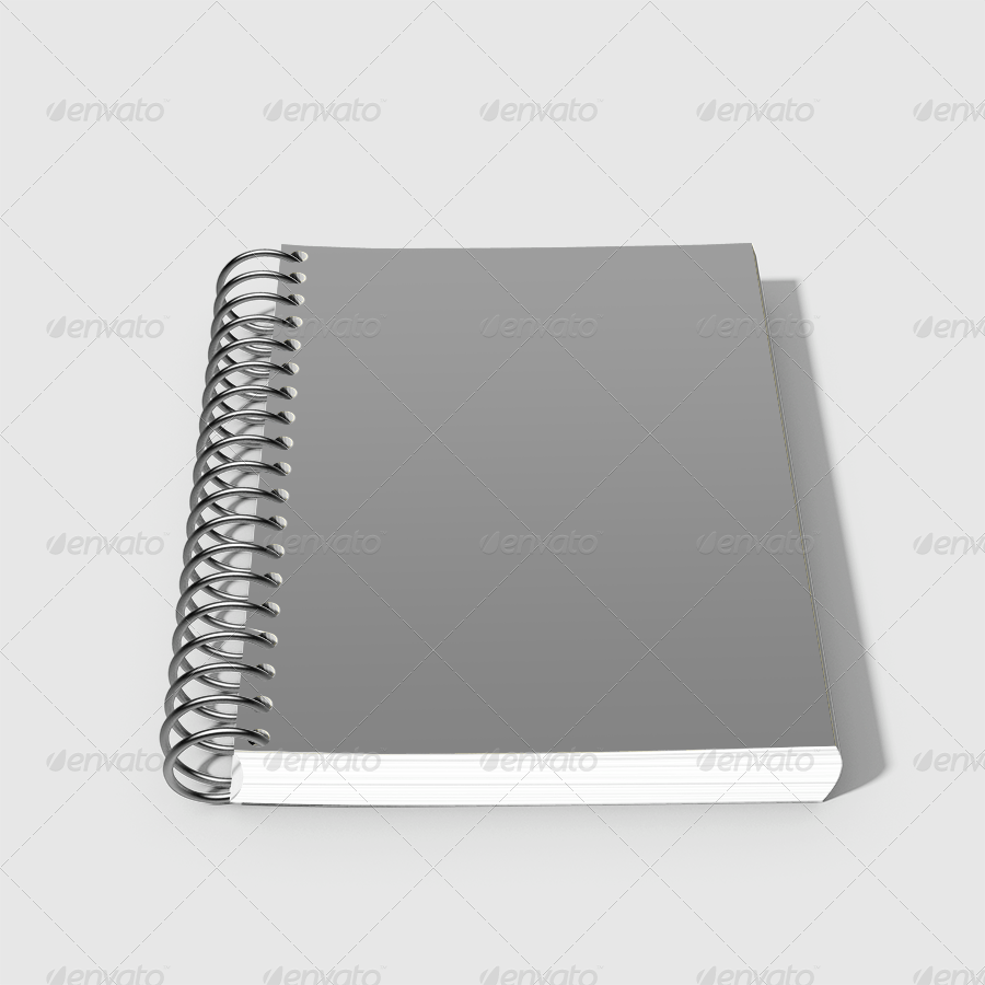 Realistic Spiral Notebook Mockup Ideas