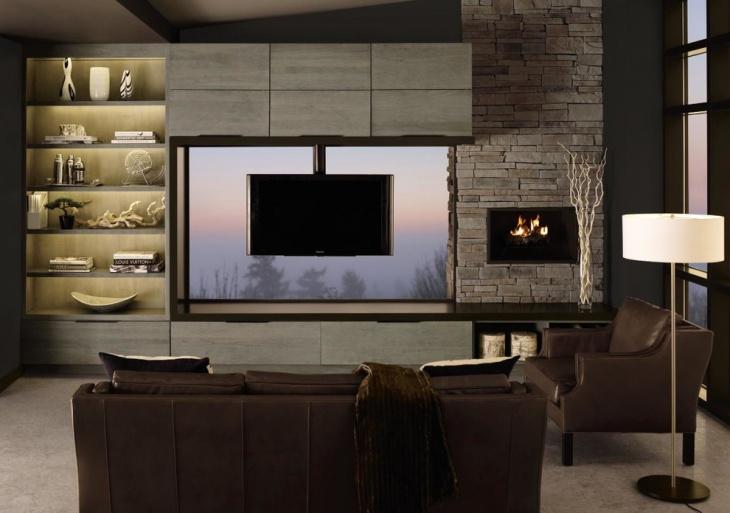 Captivating 20 Living Room Cabinet Designs Decorating Ideas Design Trends Part 12