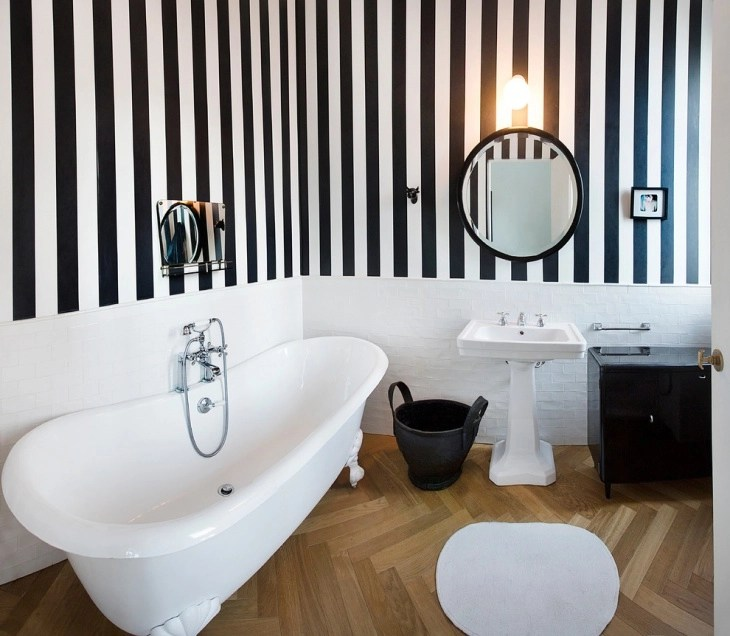 20 Black And White Bathroom Designs Decorating Ideas