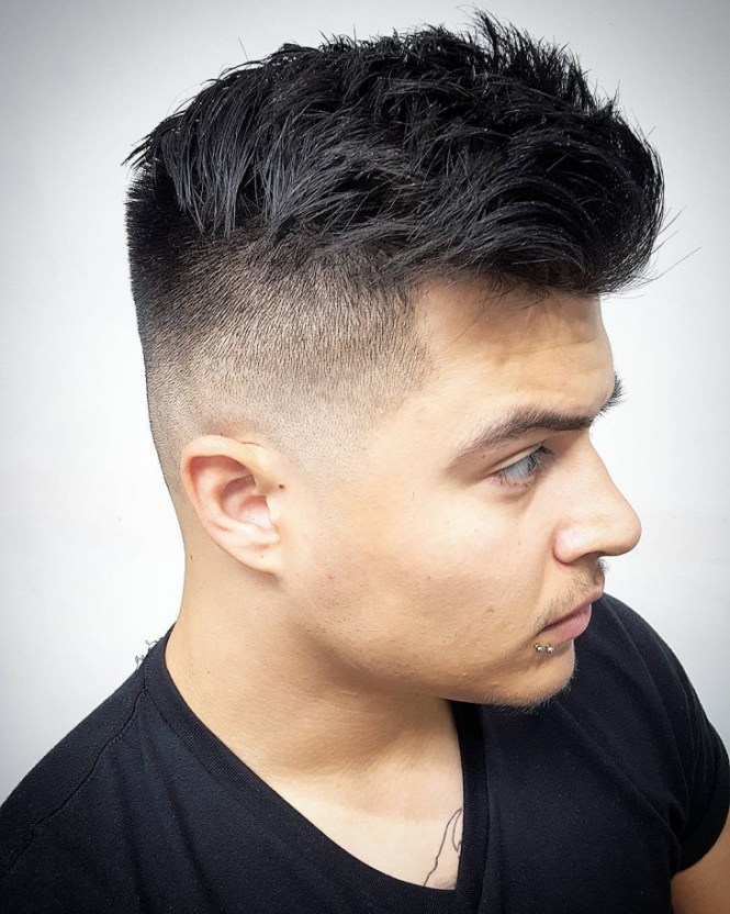 High Fade Haircut Black Skin For Men