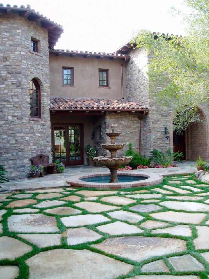 20+ Stone Patio Outdoor Designs, Decorating Ideas | Design ... on Best Backyard Patio Designs  id=34443