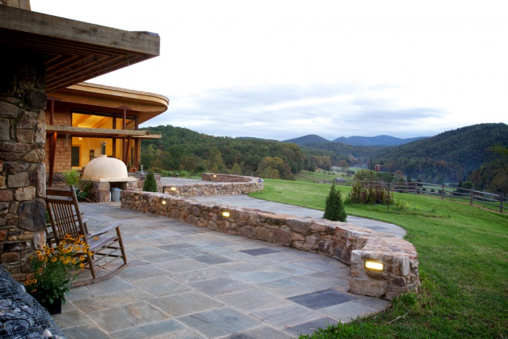 20+ Stone Patio Outdoor Designs, Decorating Ideas | Design ... on Rock Patio Designs  id=64909