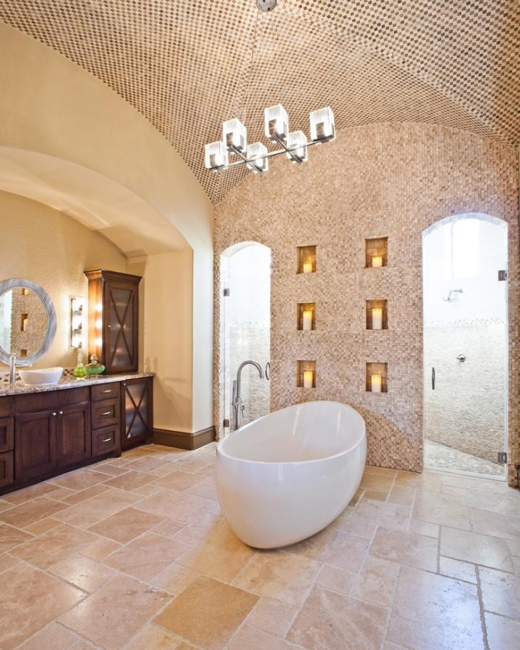 20+ Bathroom Tile Floor Designs, Plans, Flooring Ideas ... on Bathroom Tile Pattern Design  id=41277