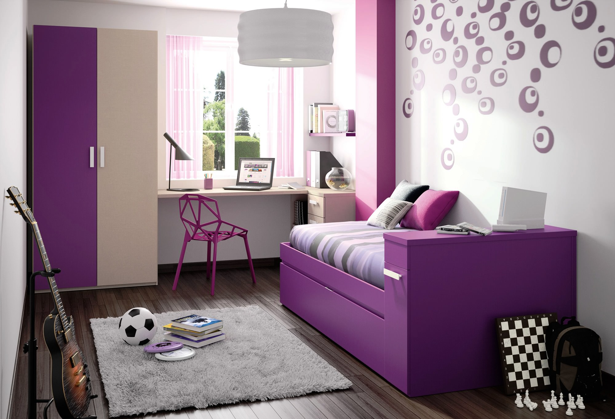 14+ Wall Designs, Decor Ideas For Teenage Bedrooms ... on Teenage Bedroom Ideas  id=48967
