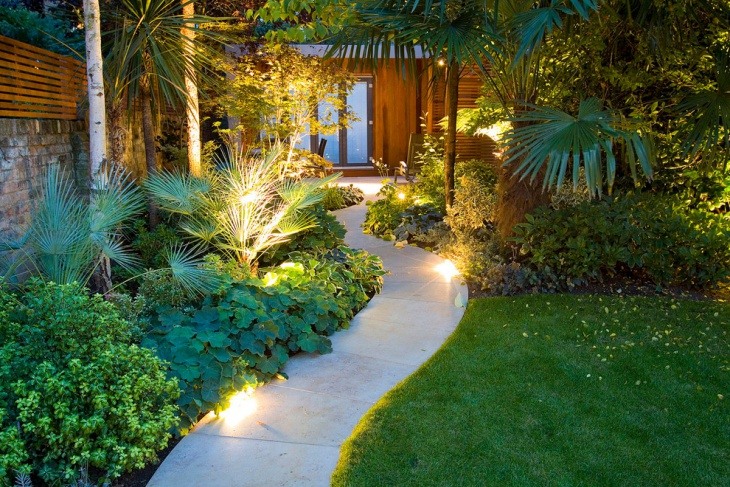 19+ Garden Walkway Designs, Decorating Ideas | Design ... on Tropical Backyards  id=53479