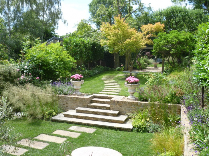 19+ Garden Walkway Designs, Decorating Ideas | Design ... on Big Backyard Landscaping Ideas id=24514