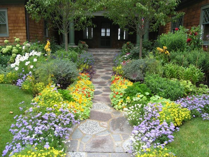19+ Garden Walkway Designs, Decorating Ideas | Design ... on Concrete Front Yard Ideas id=95232