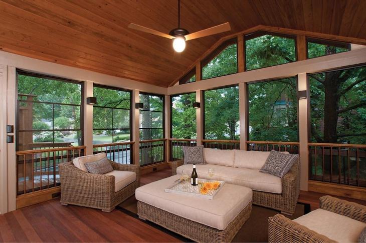 20+ Transitional Deck Designs, Decorating Ideas   Design ... on Back Patio Porch Ideas id=28868