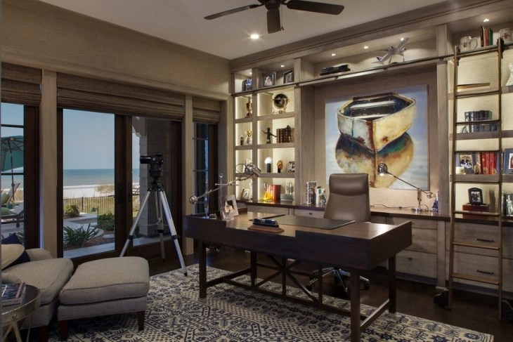20+ Coastal Home Office Designs, Decorating Ideas