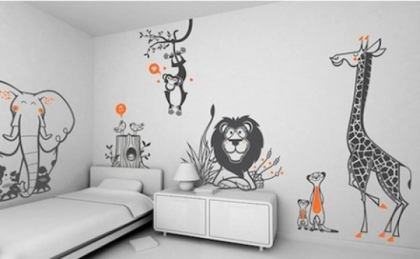 kids bedroom sticker wall murals 24+ Kids Wallpapers, Images, Pictures   Design Trends